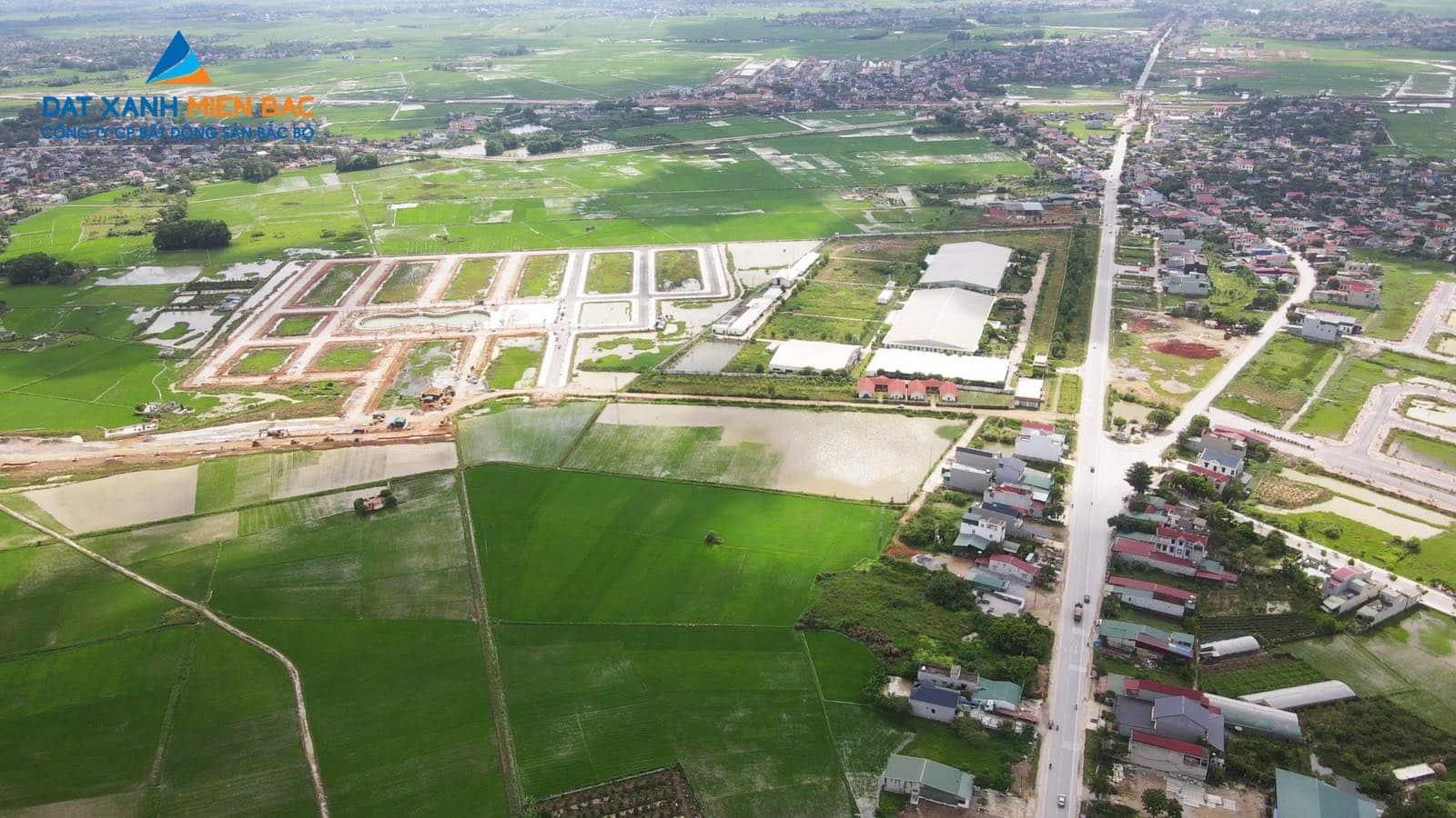 Flycam thực tế Dự án Đất đấu giá MB650 Đông Khê Đồng Nam
