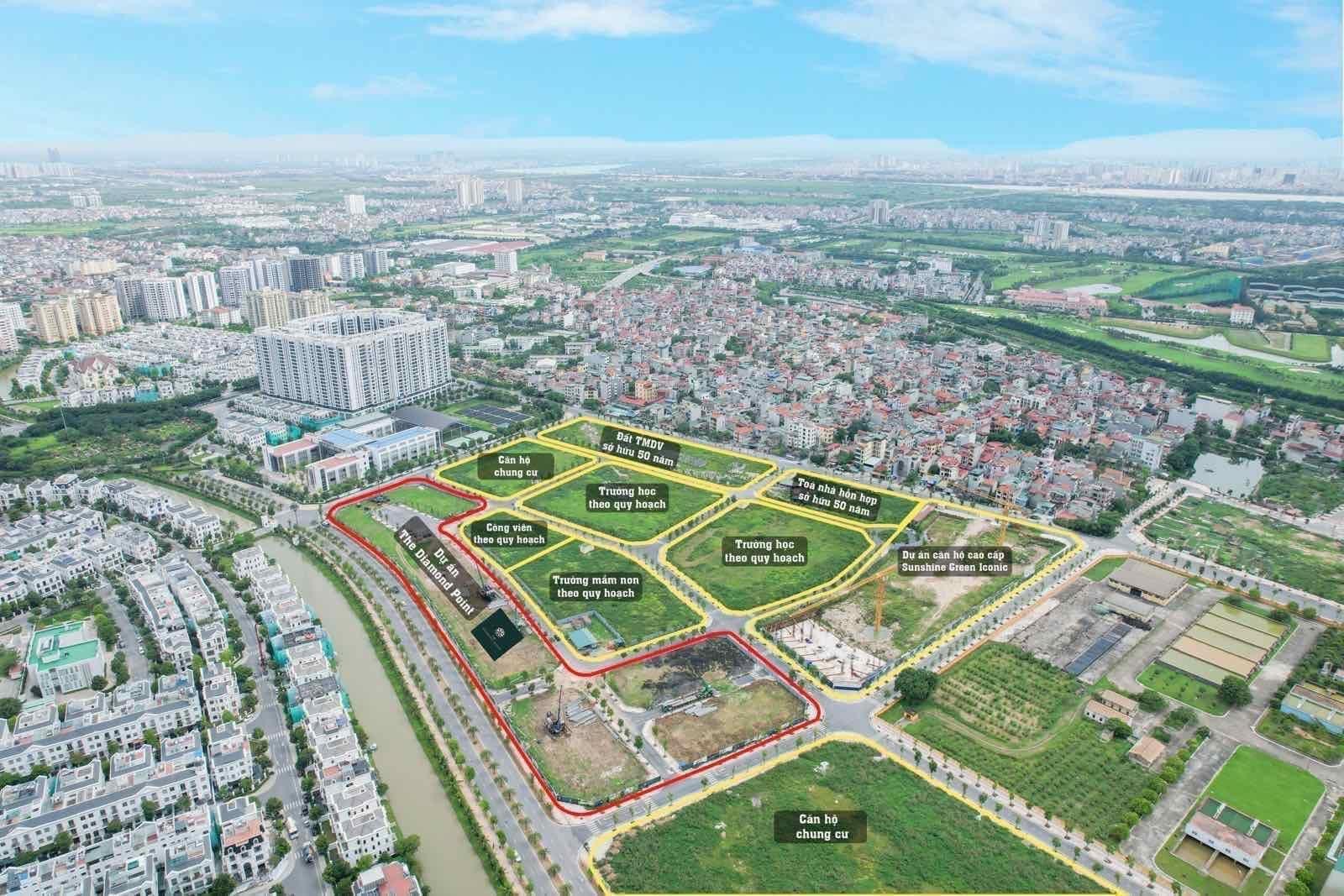 Thực tế Flycam Dự án The Diamond Point Phúc Đồng Long Biên