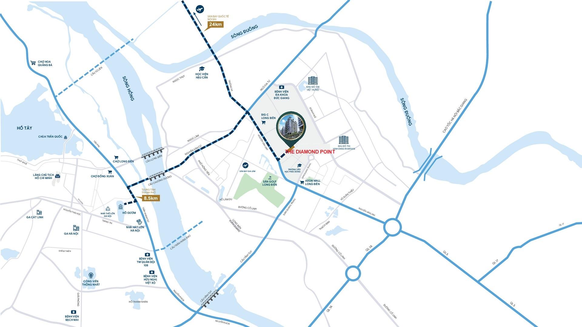 The Diamond Point Phúc Đồng Long Biên - Tọa độ Kim cương, Khơi nguồn Thịnh vượng 128 biệt thự liền kề
