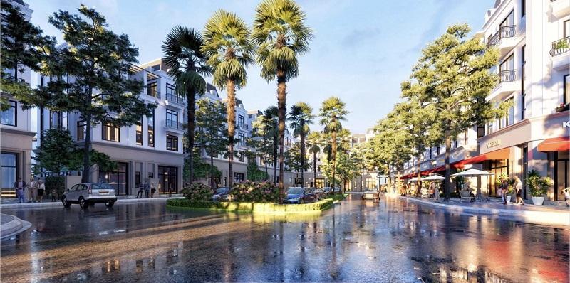 Tuyến phố thương mại nội khu The Diamond Point Phúc Đồng