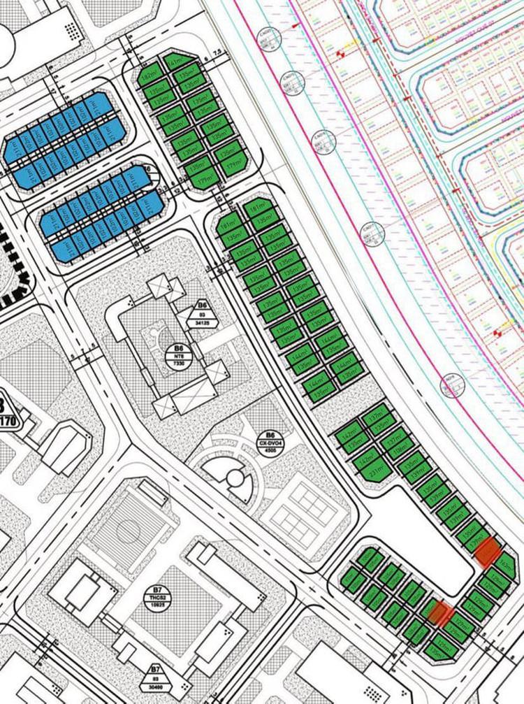 Mặt bằng quy hoạch chia lô Dự án The Diamond Point C14 Phúc Đồng Long Biên 2021