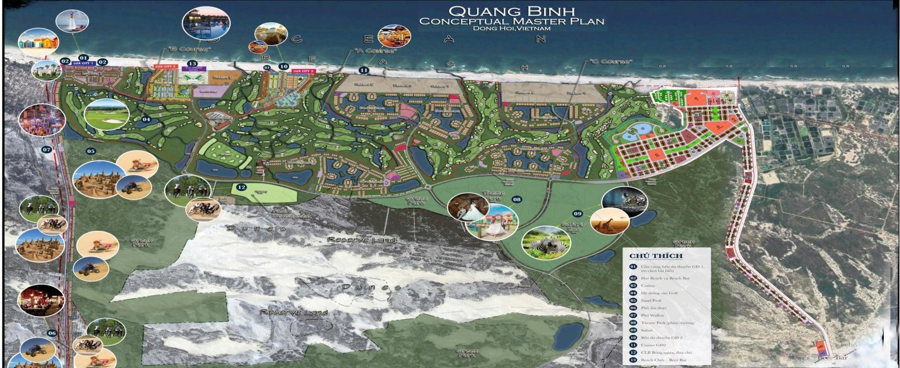 Ý tưởng thiết kế Dự án FLC Quảng Bình Beach & Golf resort 10 dự án thành phần