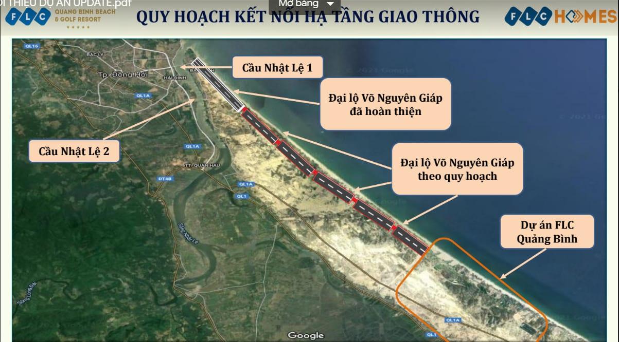 Hạ tầng giao thông thúc đẩy cơ hội và dư địa tăng giá BĐS FLC Quảng Bình Beach Golf