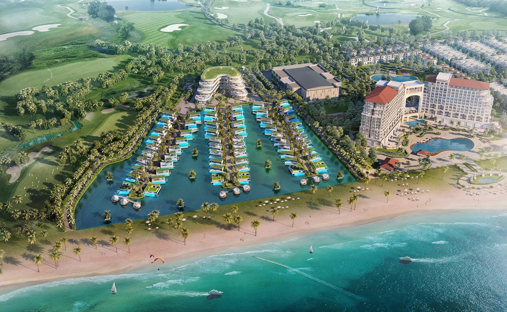 Phân khu Lagoona bên cạnh FLC Grand Hotel FLC Beach & Golf resort