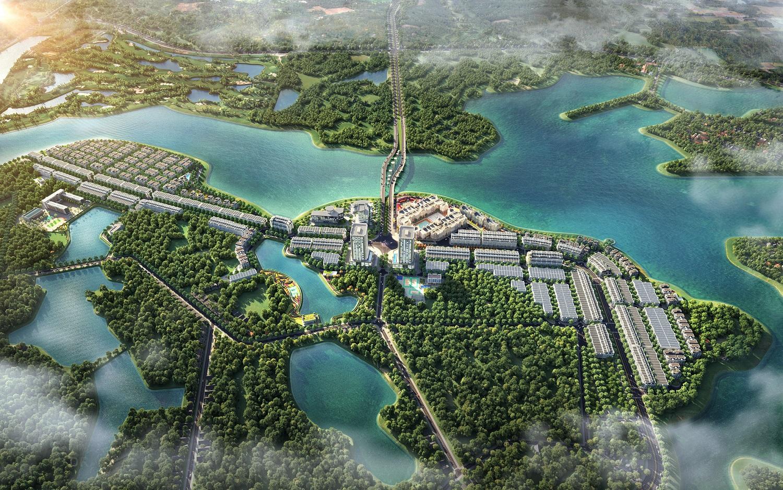 Phối cảnh dự án River Bay Vĩnh Yên Bắc Đầm Vạc Liền kề Biệt thự