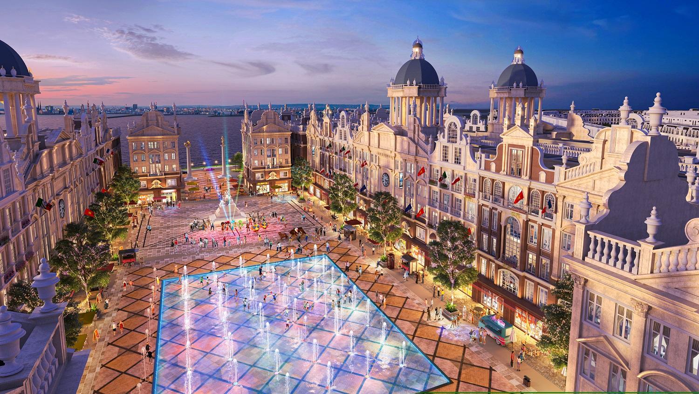 Quảng trường Trung tâm Nhạc nước phong cách Châu Âu tại River Bay Vĩnh Yên