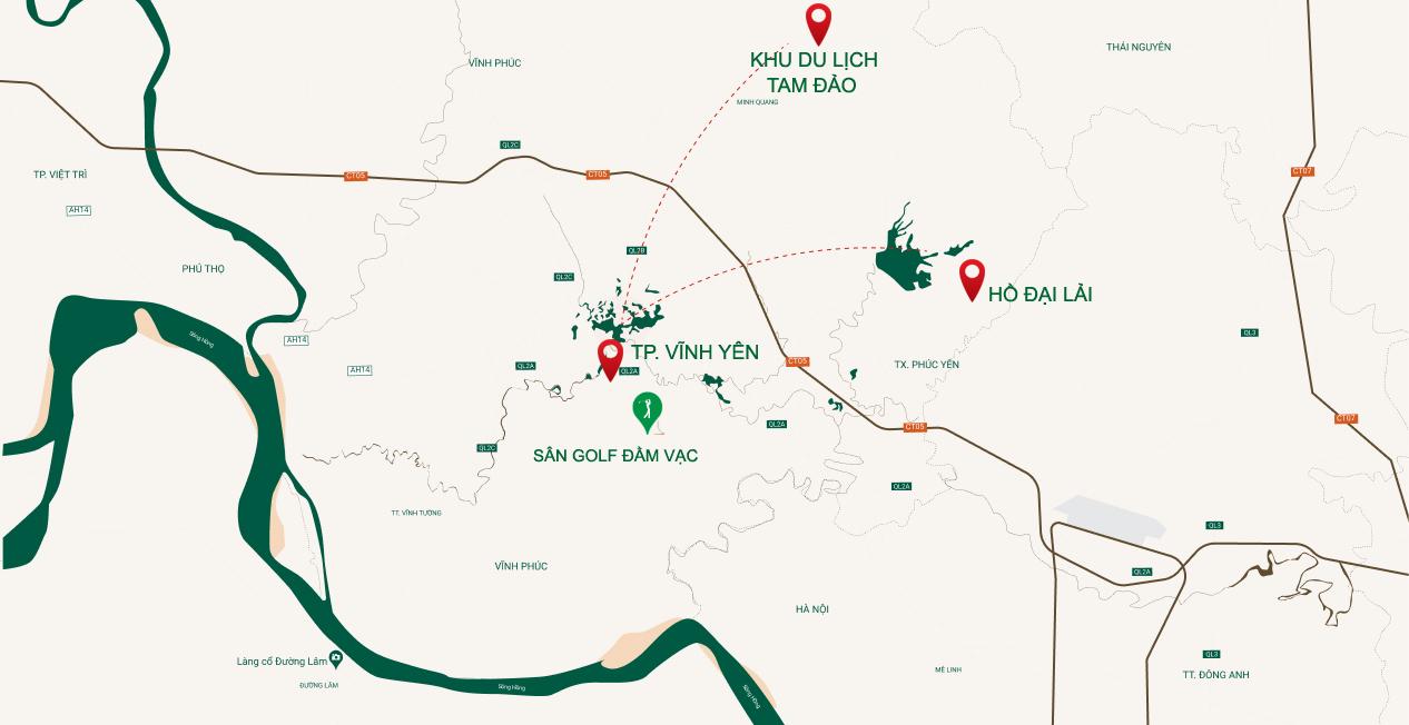 Tọa độ Hoàng Kim thực tế hiện hữu tại River Bay Bắc Đầm Vạc Vĩnh Yên
