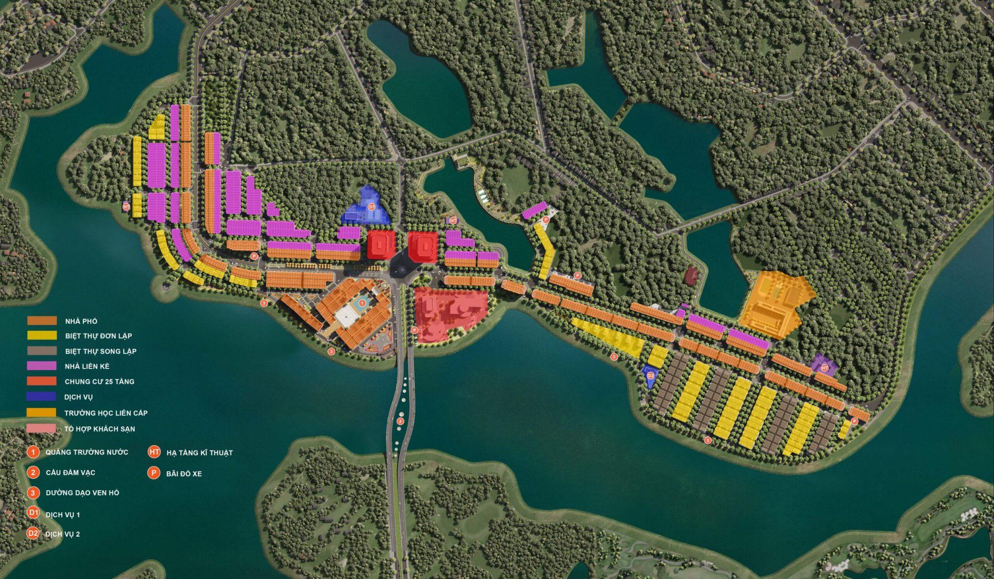 Phân khu chức năng và định hình Sản phẩm Bất động sản Kinh doanh, Nghỉ dưỡng River Bay Bắc Đầm Vạc