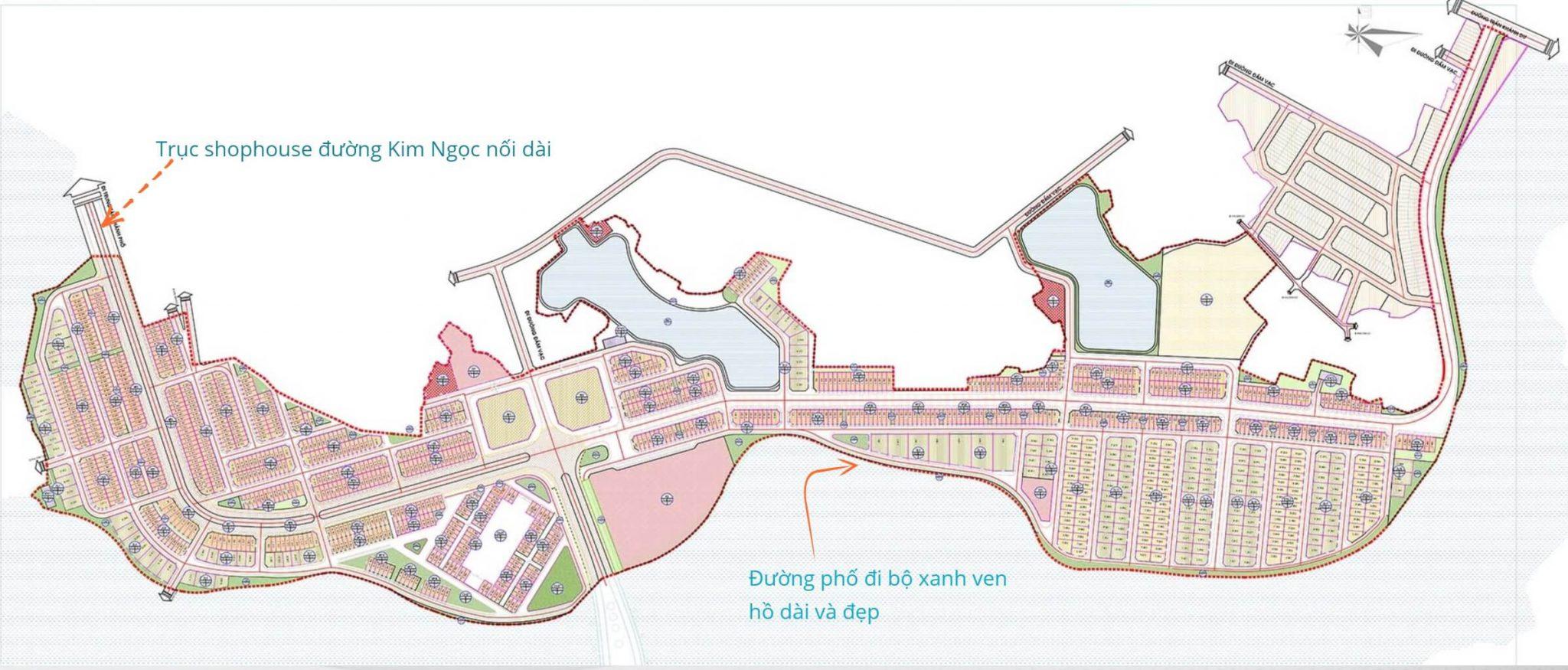 Mặt bằng Quy hoạch Phân lô Dự án River Bay Vĩnh Yên Bắc Đầm Vạc 2021