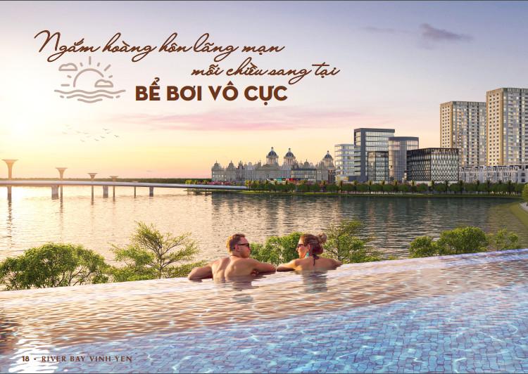 Tiện ích thượng lưu Bể bơi vô cực River Bay Bắc Đầm Vạc Vĩnh Yên