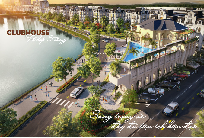 Tổ hợp Clubhouse 3 tầng view Hồ Dự án River Bay Bắc Đầm Vạc Vĩnh Yên