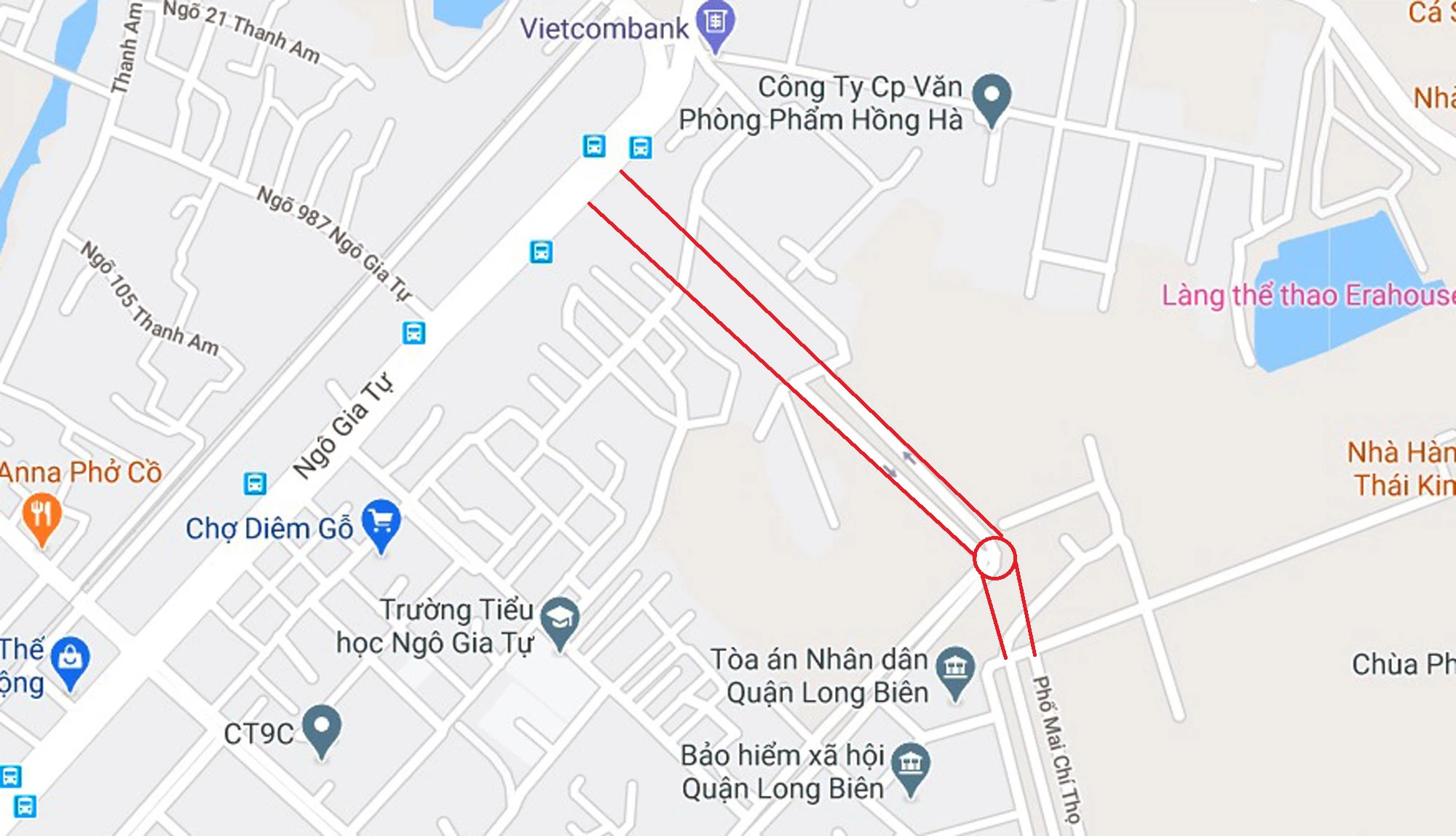 Tuyến đường kết nối KĐT Việt Hưng trực tiếp Phố Ngô Gia Tự mới sắp triển khai