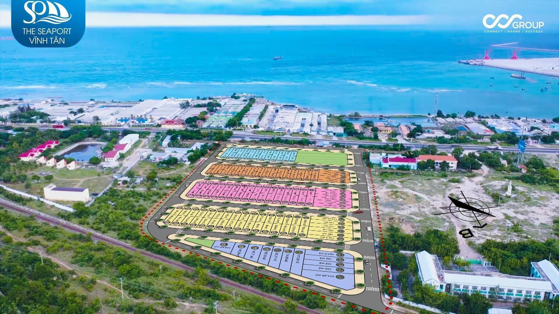 Dự án The Seaport Vĩnh Tân tựa sơn hướng hải vượng khí tài lộc
