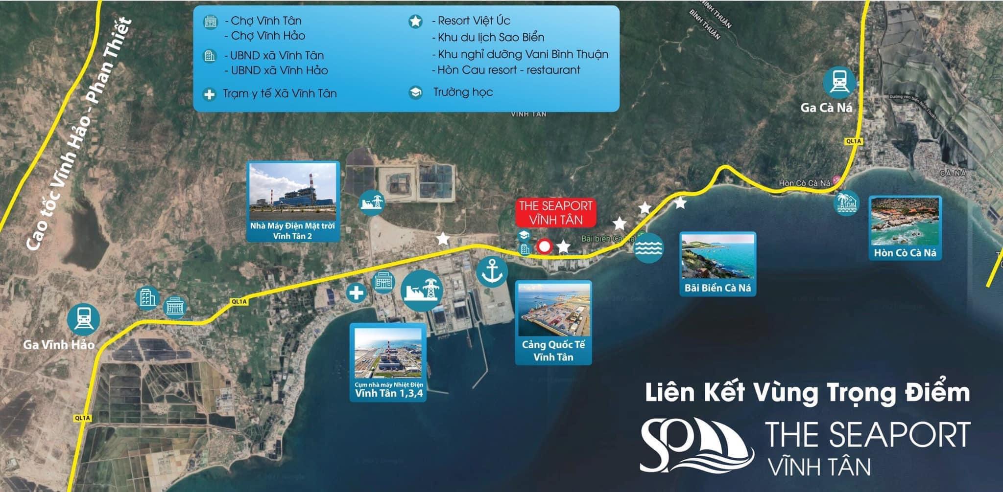 Tọa độ Vàng kết nối Đất nền The Seaport Vĩnh Tân quốc lô 1A
