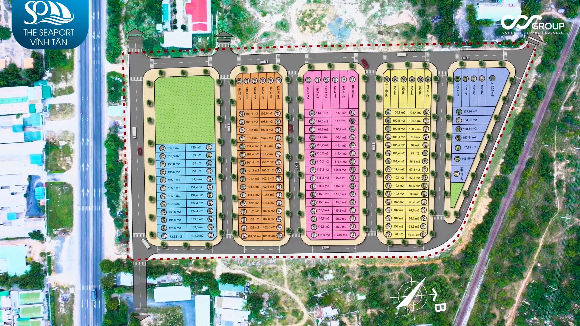 Thiết kế Mặt bằng phân lô Dự án The Seaport Vĩnh Tân