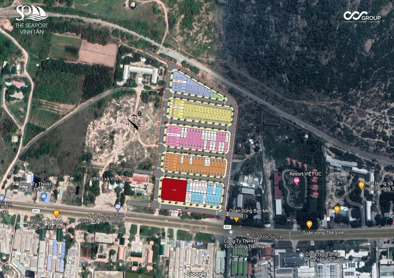 Dự án Đất nền The Seaport Vĩnh Tân trong khu vực dân cư hiện hữu sầm uất