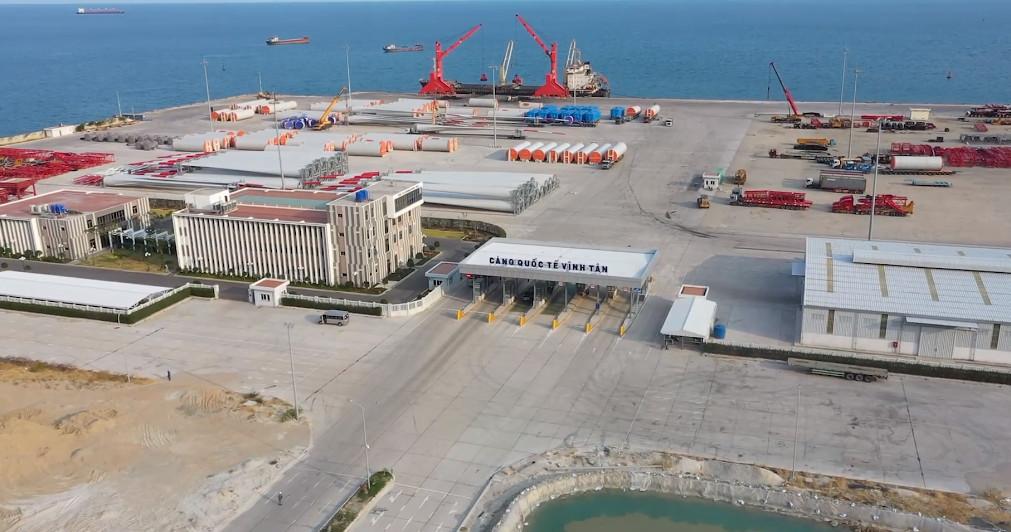 Cảng biển Quốc tế Vĩnh Tân - Vinh Tan Seaport thực tế