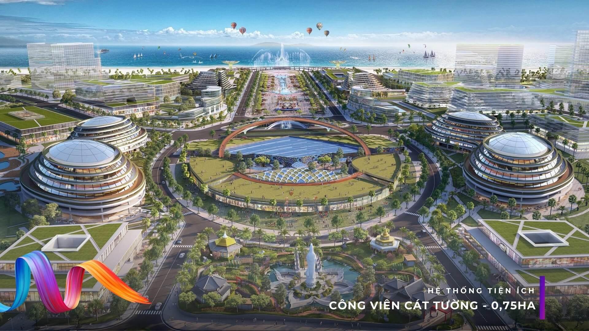 Công viên Cát Tường - Đại đô thị Dự án KN Paradise Cam Ranh Bãi Dài