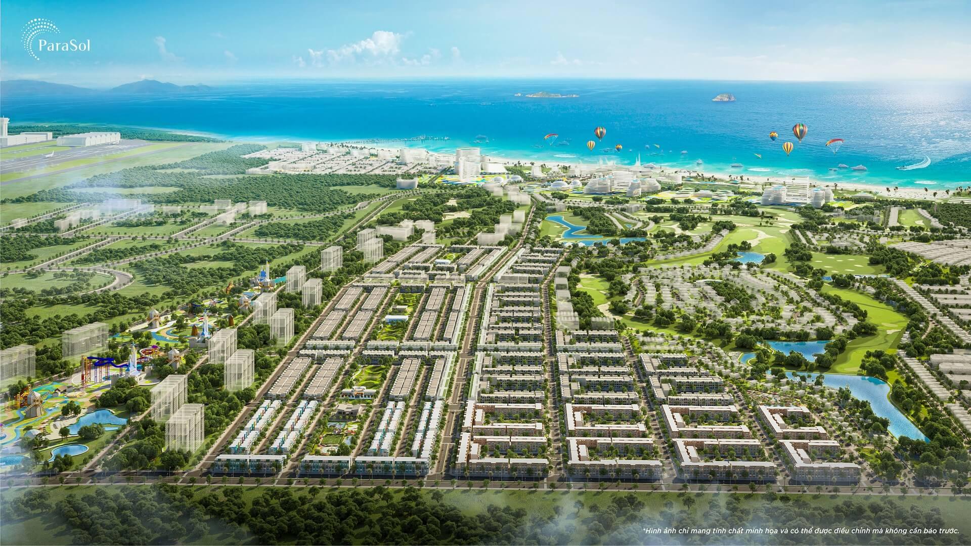 So sánh Phối cảnh và Thực tế KN Para Sol Cam Ranh Paradise