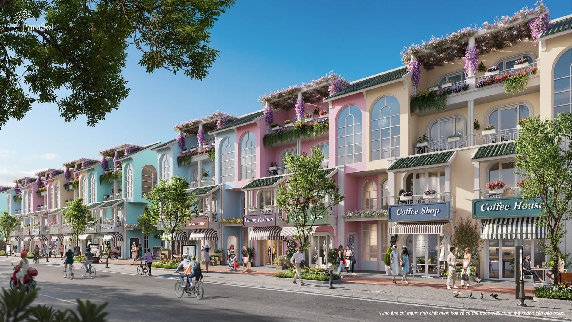 Nhà phố 3,5 tầng Para Sol KN Paradise Cam Ranh Bãi Dài