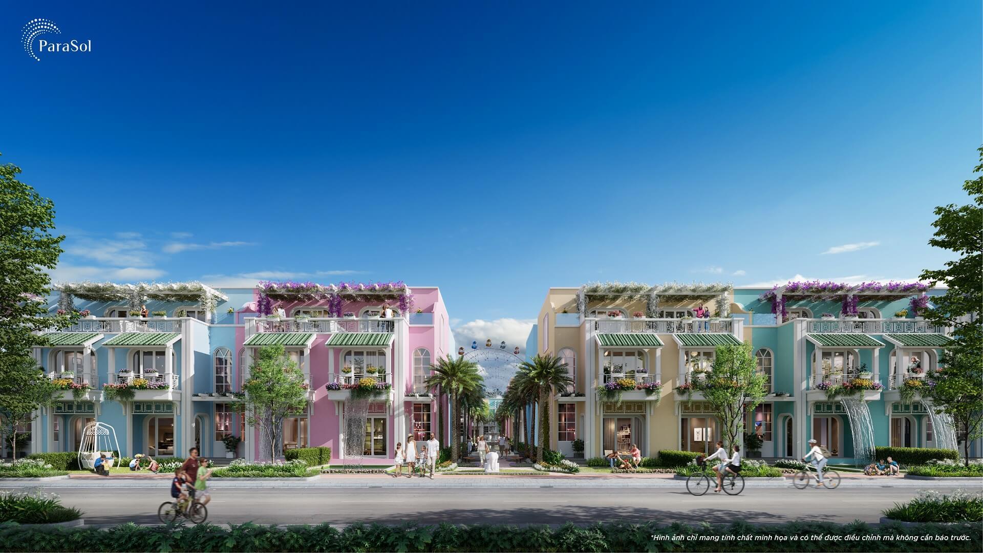Nhà Liền kề 2,5 tầng Para Sol KN Paradise Cam Ranh Bãi Dài