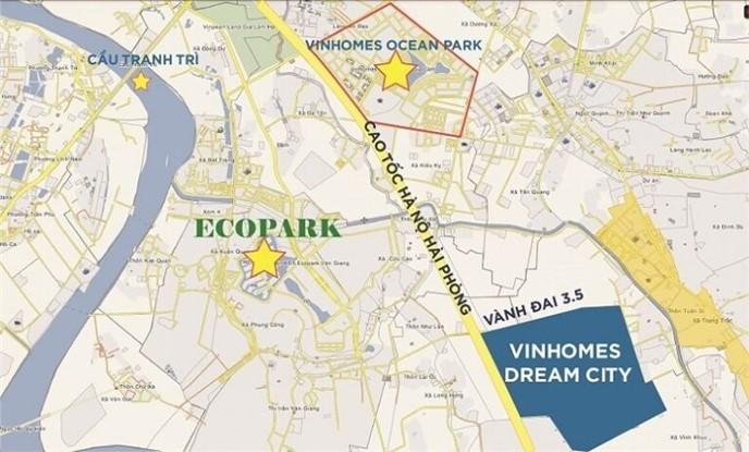 Vị trí Dự án Vinhomes Dream City Hưng Yên