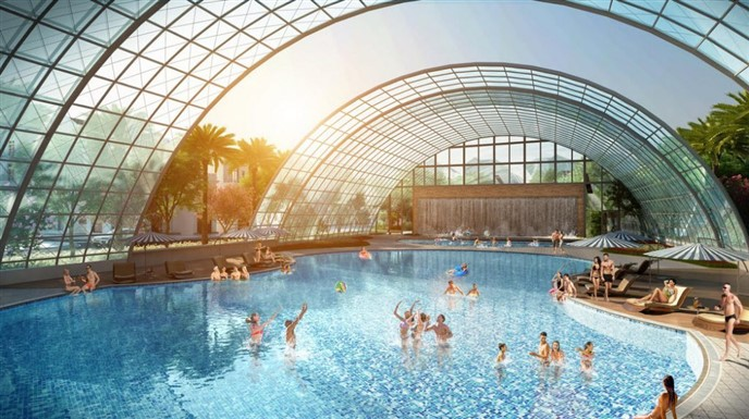 Tiện ích Bể bơi Vinhomes Dream City Hưng Yên Văn Giang