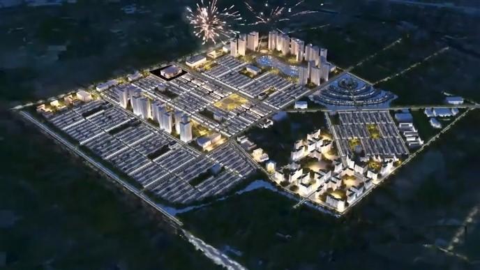 Phối cảnh đêm Vinhomes Dream City Hưng Yên