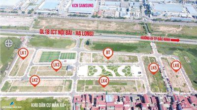 Đất nền Long Châu Star Mẫn Xá Yên Phong Bắc Ninh QL18 Đối diện Samsung